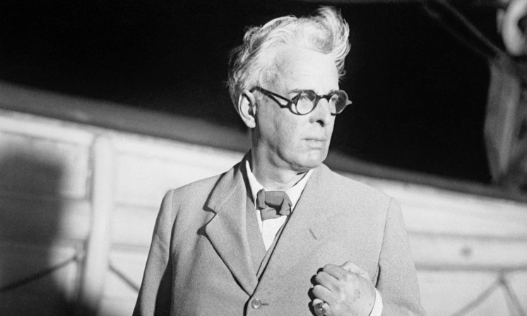 WB Yeats on the SS Europa, 1932