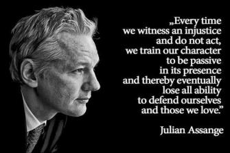Julian Assange image injustice