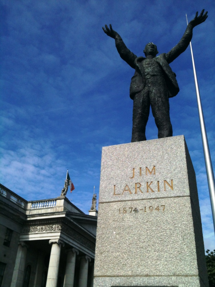 Jim Larkin statue in Dublin