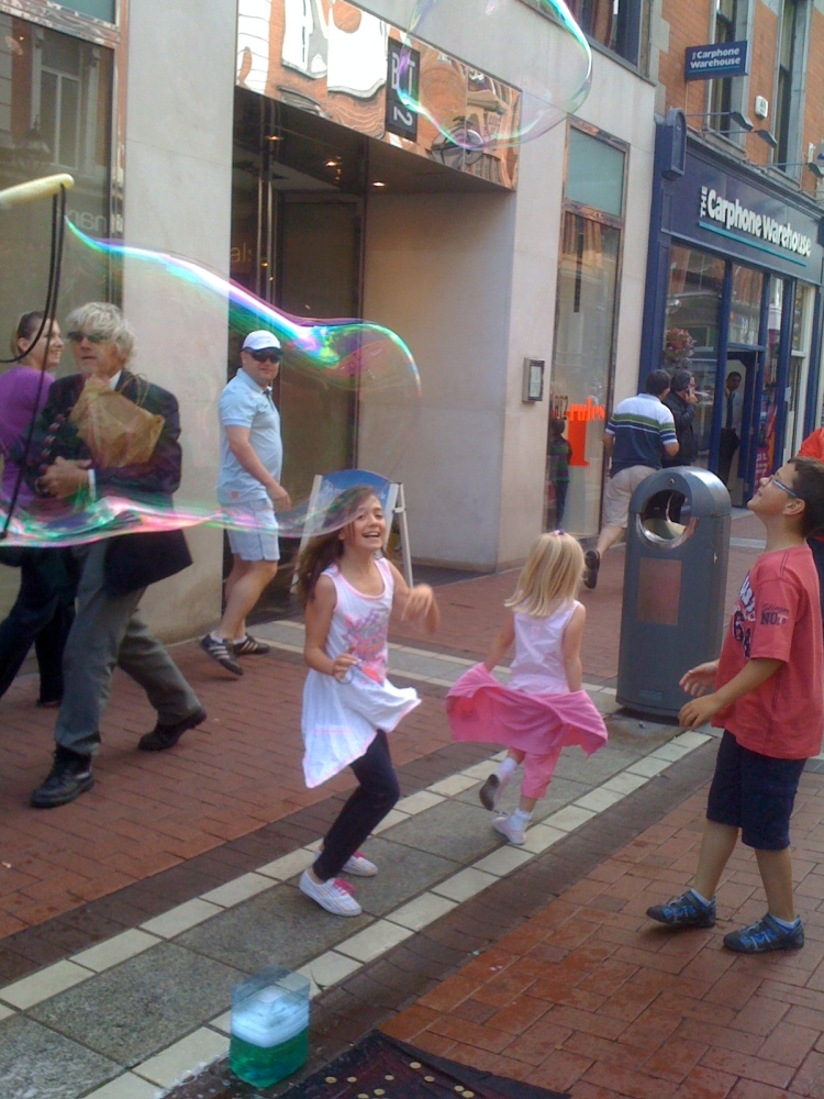 Dancing children, Grafton Street, Dublin