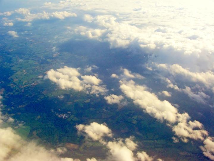 Ireland below...