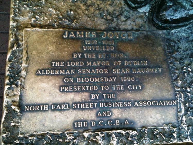 James Joyce plaque, Dublin