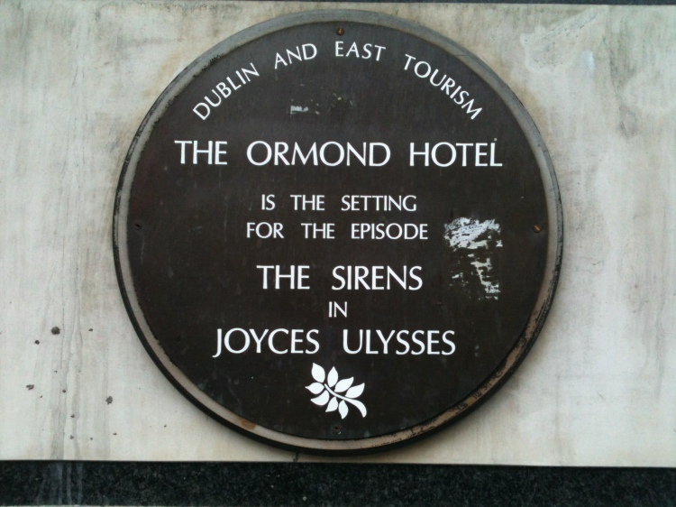 The Ormond Hotel, James Joyce's Ulysses